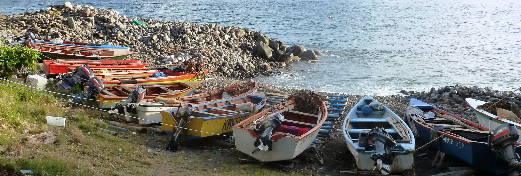 boats in dominica